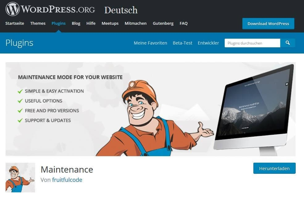 plugin maintenance wordpress